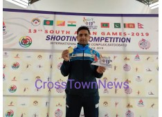 Ace J&K Shooter Chain Singh wins Gold Medal in South Asian Games;Rahil Gupta congratulates Chain telephonically