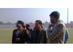 Div Com inspects MA Stadium Jammu, directs for timely completion