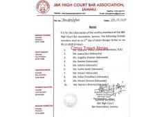BAJ issues list of female Advocates for hunger strike on tomorrow