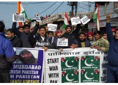 Dimple leads anti Pakistan Rally against the attack on Nankana Sahib/religion Conversion