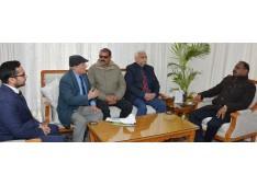 Officer Bearers of J&K Olympic Association calls on Lt Governor