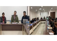 Hirdesh reviews Samagra Shikhsa, Mid Day Meal Scheme;Arun gives briefing
