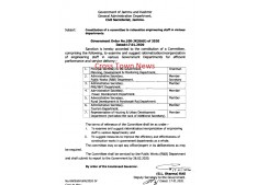 Constitution of Committee for reorganization/rationalization of Engineering Staff in J&K