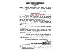 Stop gap arrangements in the J&K Secretariat(Gazetted) Service-I