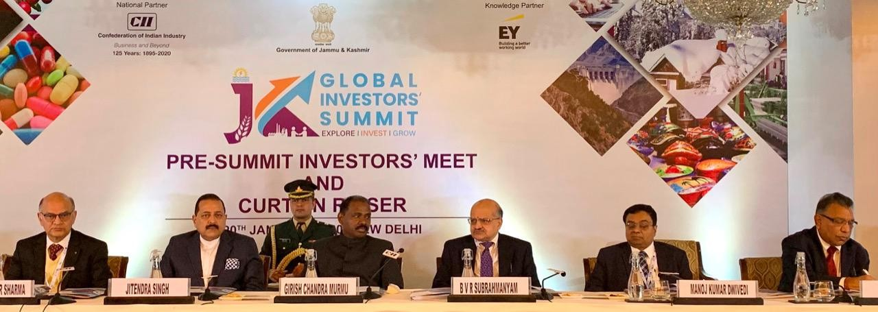 Pre-summit investors' meet of J&K Global Investors' Summit 2020 held in Delhi ; Jammu and Kashmir to become an economic paradise for investors: LG Murmu