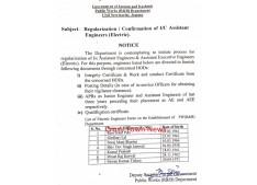 Regularization of 6 Engineers as Assistant Engineers in J&K