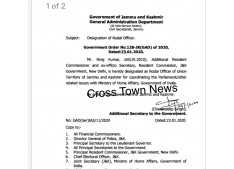 J&K Govt designates Niraj Kumar as Nodal Officer to deal issues with Ministry of Home Affairs