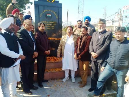 Congress celebrate Birth Anniversary of  Neta Ji Subash Chander Bose in Jammu