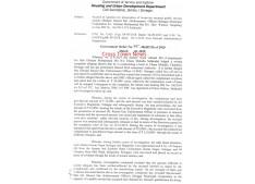 J&K Govt grants  accord of sanction of Prosecution against Enforcement Officer