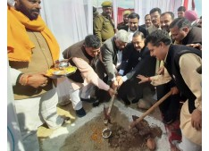 Dr Jitendra takes stock of works at AIIMS site; performs Bhoomi Pooja