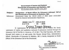 Designation of Nodal Officer for Grievance redressal Cell