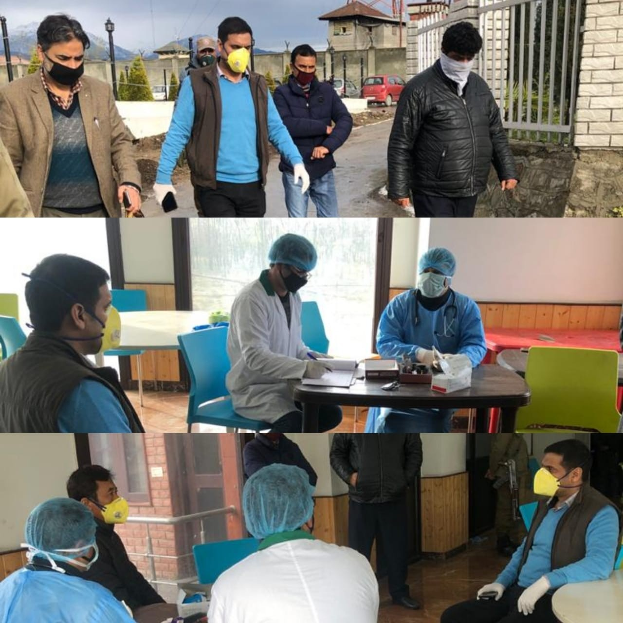 Good Step: Mohammad Aijaz visits Quarantine Centre; Enquires about well being of inmates