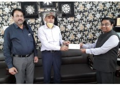 Covid-19: SIDCO donates Rs. 18.10 lakh to J&K Relief Fund ?>