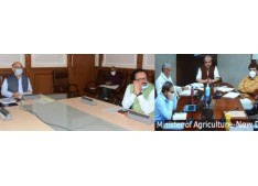 Advisor Sharma discusses Agri scenario with Union Minister