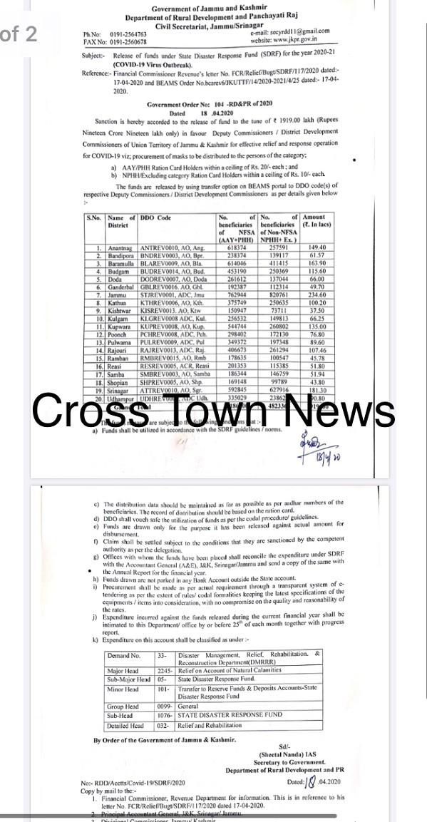 Release Of Funds Letter from www.crosstownnews.in