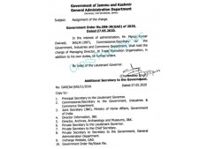J&K Govt assigns charge of MD JKTPO to Manoj Dwivedi