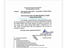 India Global Week-2020-Manoj Dwivedi nominated as  Nodal Officer from J&K