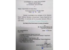 Appointment of Nodal Officer to Coordinate with AG Office