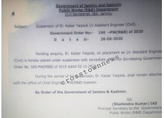 Shailendra Kumar suspends one Engineer for disobeying Govt order