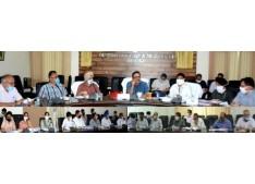 Navin Choudhary reviews functioning of Agriculture, Animal & Sheep Husbandry Deptts