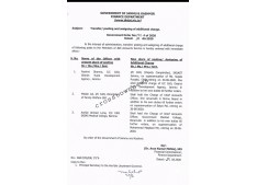 Transfers and postings of Chief Accounts Officers: Assigning of additional charge