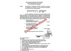 Re constitution of DPC for promotion of Official/Class IV employees up to Head Assistants