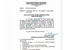 J&K: Relieving of Officers