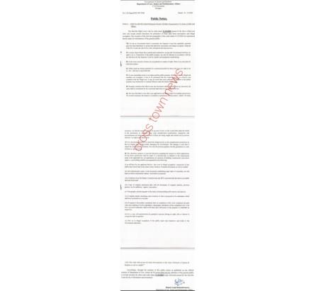 Govt issue public notice for illegal encroachers for sanction of plans in J&K