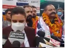 Altaf Bukhari welcomes  retd  Dy Director Dr Rohit  in Apni Party