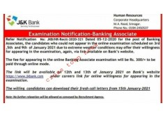 J&K Bank offers for willingness for appearing in Exams, who missed due to bad weather