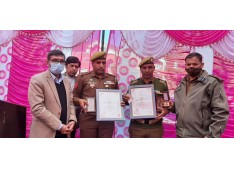 Two Police Personnel of Poonch Police conferred with Jeevan  Raksha Padak Award by MHA