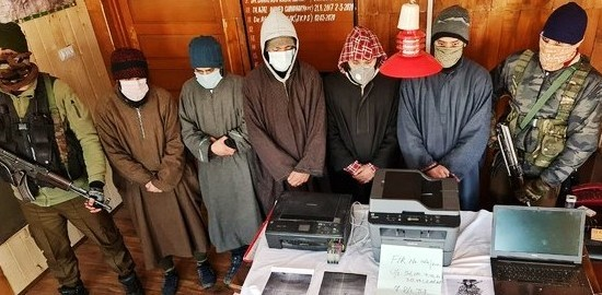 J&K: Five militant associates held for pasting threat posters