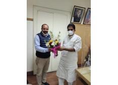 Shahnawaz Choudhary calls upon AICC General Secretary K C Venugopal