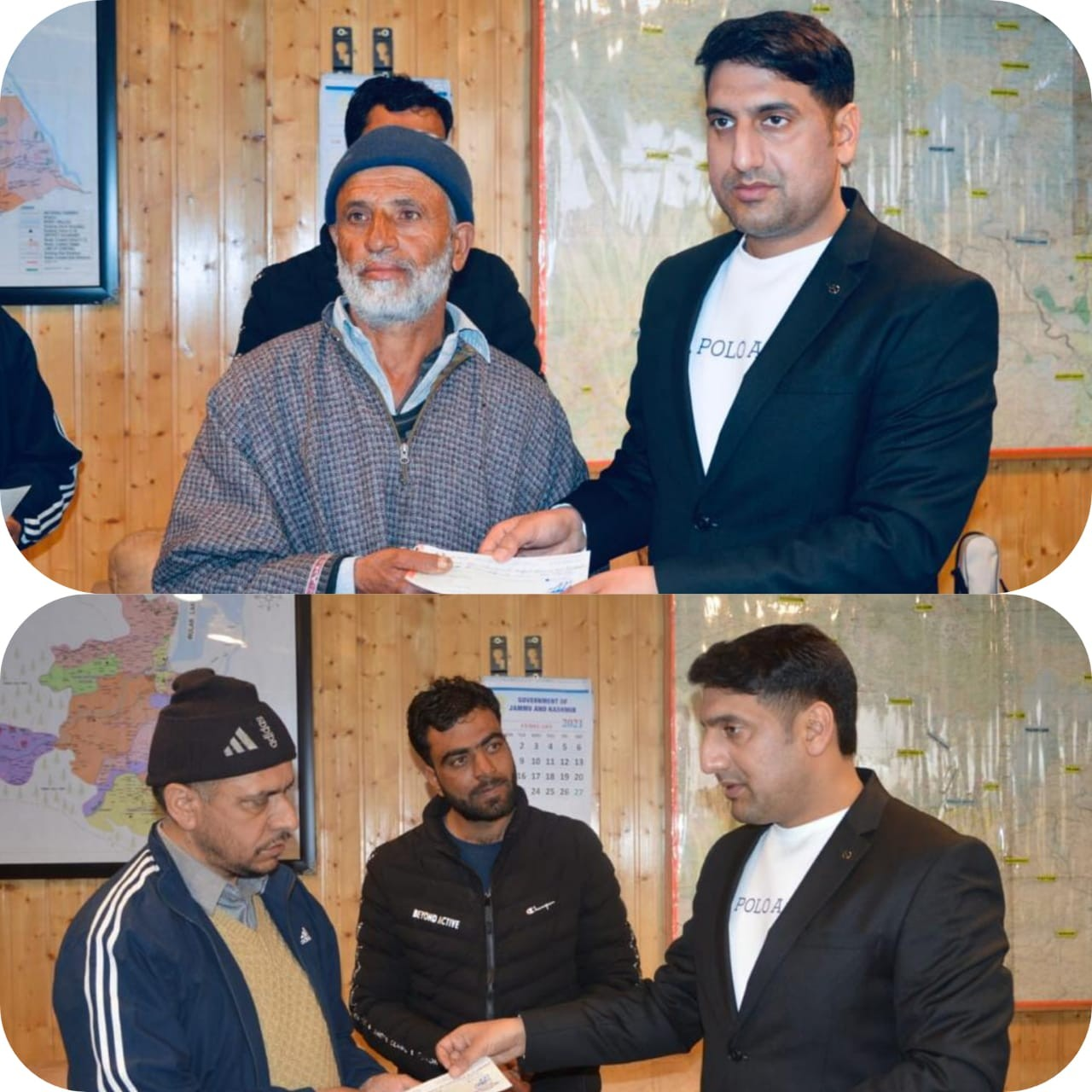 DC Baramulla provides Rs 1 Lakh as Cash Assistance among Uri Fire Victims