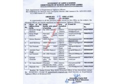 Appointment of  Departmental Vigilance Officers in J&K