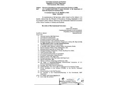 J&K Govt issues Warrant of Precedence; DDC Chairpersons placed equivalent to Mayors, Vice Chairpersons equivalent to DivComs , Members equivalent to DMs