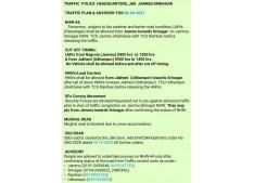 Traffic Plan & Advisory for April 8
