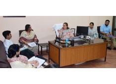 Sheetal Nanda reviews functioning of SWD Jammu