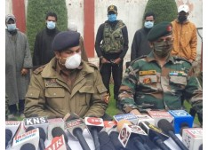 J&K: Two Al Badr militants, 3 OGWs held with arms and ammunition : SSP Sandeep Gupta