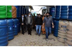 Advisor Baseer Khan visits Silk Park and industrial estate Zakura:  Assures upgrading of Power supply to Industrial Estate