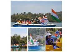 Directorate of Tourism Jammu organised boating at Mansar lake