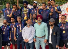 J&K Masters Roller Hockey Team clinches gold medal at 58th National Roller Skating Championship