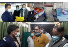 DC Anantnag stresses on functional Medical Equipments, punctuality of Staff