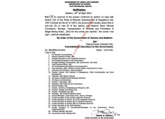 J&K Minor Mineral Concession Storage Transportation of Minerals and Prevention of Illegal Mining Rules