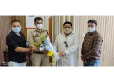 KCWT Chairman Chandan Datta greets DIG UR range Suleman Chowdhary