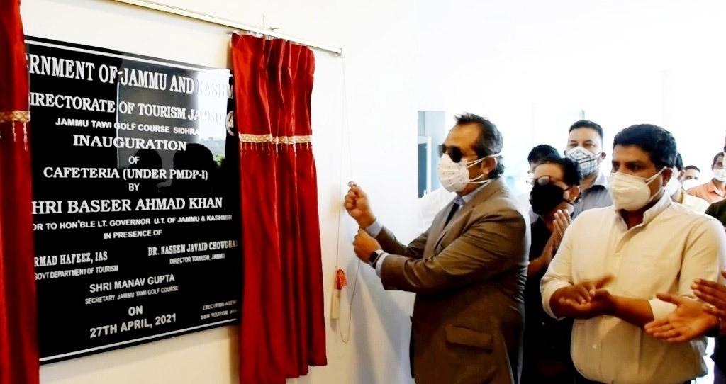 Advisor Baseer Khan inaugurates Eco huts at Jammu Tawi Golf Course