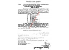 Placement as I/C Section officers