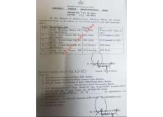 SSP orders transfers and postings of SHOs
