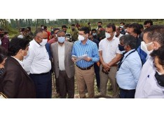 Div Com visits DRDO 500- bedded Covid hospital site: Asks to complete within 35 days'