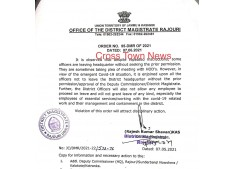 Do not leave HQ : DC Rajouri to Officers